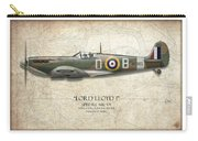 Douglas Bader Spitfire - Map Background Carry-all Pouch