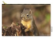 Douglas Squirrel On Stump Carry-all Pouch
