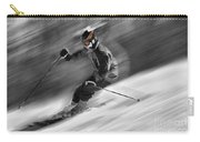 Downhill Skier  Carry-all Pouch