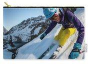 Downhill Skiier In Portillo, Chile Carry-all Pouch