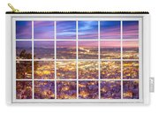 Downtown Boulder Colorado City Lights Sunrise  Window View 8lg Carry-all Pouch