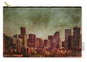 Downtown Denver Antiqued Postcard Carry-all Pouch