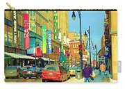 Downtown Montreal Eatons Centre Complex Les Ailes Old Navy Rue Mcgill College City Scenes  C Spandau Carry-all Pouch