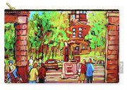 Downtown Montreal Mcgill University Streetscenes Carry-all Pouch
