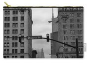 Downtown Nashville In Black And White Carry-all Pouch by Dan Sproul