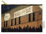 Downtown Seattle With Silhouetted Runners On Brick Wall Early Mo Carry-all Pouch