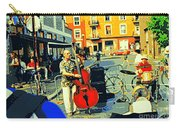 Downtown Street Musicians Perform At The Coffee Shop With Cool Tones On A Hot Summer Day Carry-all Pouch