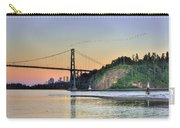 Downtown Vancouver And Lions Gate Bridge At Twilight Carry-all Pouch by Eti Reid