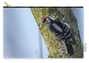 Downy Woodpecker - Male Carry-all Pouch