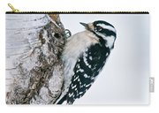 Downy Woodpecker Pictures 27 Carry-all Pouch