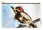 Downy Woodpecker Sumi-e Carry-all Pouch