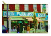 Dozen Red Roses Boutique Fleuriste Coin Vert Notre Dame Street Scene Montreal Art Carole Spandau Carry-all Pouch