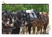 Draft Horses All In A Row Carry-all Pouch