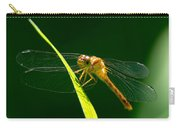 Dragon Fly On Grass Carry-all Pouch