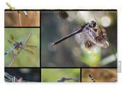 Dragonflies On Twigs Collage Carry-all Pouch