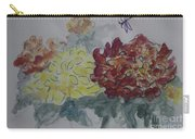 Dragonfly Among Chrysanthemums Carry-all Pouch