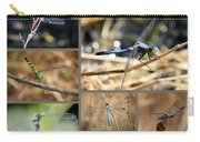 Dragonfly Collage Carry-all Pouch by Carol Groenen