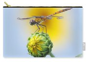 Dragonfly In Sunflowers Carry-all Pouch by Robert Frederick