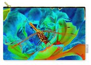 Dragonfly On A Cosmic Rose Carry-all Pouch