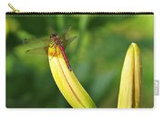 Dragonfly On Bud Carry-all Pouch