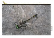 Dragonfly On Rock Carry-all Pouch