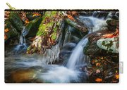 Dragons Teeth Icicles Waterfall Great Smoky Mountains Painted  Carry-all Pouch