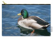Green Headed Mallard Duck Carry-all Pouch