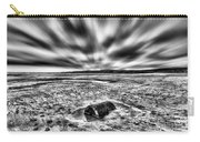 Drama At Freshwater West Mono Carry-all Pouch
