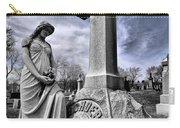 Dramatic Gravestone With Cross And Guardian Angel Carry-all Pouch