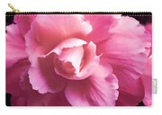 Dramatic Pink Begonia Floral Carry-all Pouch by Jennie Marie Schell