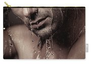 Dramatic Portrait Of Young Man Under A Shower Carry-all Pouch