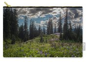 Dramatic Rainier Flower Meadows Carry-all Pouch