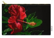 Dramatic Red Hibiscus Carry-all Pouch