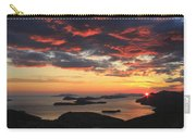 Dramatic Sunset Over Dubrovnik Croatia Carry-all Pouch