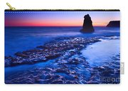 Dramatic Sunset View Of A Sea Stack In Davenport Beach Santa Cruz. Carry-all Pouch by Jamie Pham