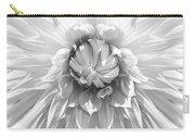Dramatic White Dahlia Flower Monochrome Carry-all Pouch