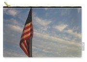 Draped American Flag Pole Dusk  Casa Grande Arizona 2004 Carry-all Pouch