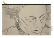 Drawing Of A Woman Carry-all Pouch