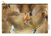 Dream Catcher- Spirit Of The Red Fox Carry-all Pouch