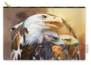 Dream Catcher - Three Eagles Carry-all Pouch