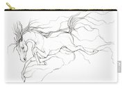Dream Horse Carry-all Pouch by Angel  Tarantella