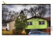 Suburban Dream - House With Blue Car Carry-all Pouch
