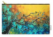 Dream Watchers Original Abstract Bird Painting Carry-all Pouch by Megan Duncanson