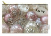 Dreamy Angel Christmas Holiday Shabby Chic Love Print - Holiday Angel Art Romantic Holiday Ornaments Carry-all Pouch