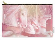 Dreamy Baby Pink Merry Go Round Carousel Horses - Pink Carousel Horses Baby Girl Nursery Decor Carry-all Pouch
