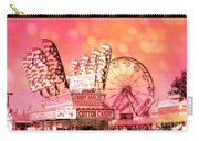 Surreal Hot Pink Orange Carnival Festival Cotton Candy Stand Candy Apples Ferris Wheel Art Carry-all Pouch