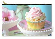 Dreamy Shabby Chic Cupcake Vintage Romantic Food And Floral Photography - Pink Teal Aqua Blue  Carry-all Pouch