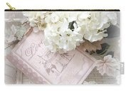 Dreamy Shabby Chic White Hydrangeas On Pink Love Book - Romantic Hydrangeas Love Book Decor Carry-all Pouch