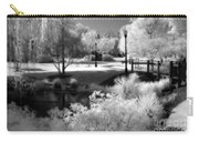 Surreal Infrared Black White Infrared Nature Landscape - Infrared Photography Carry-all Pouch