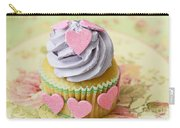 Dreamy Valentine Cupcake Pink Hearts Romantic Food Photography  Carry-all Pouch by Kathy Fornal